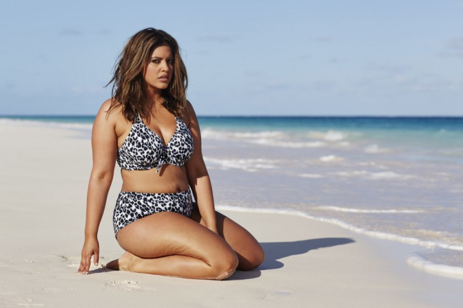 Denise Bidot in two piece