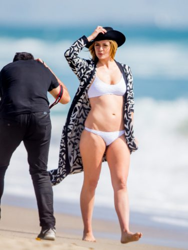 Mischa Barton in White Bikini