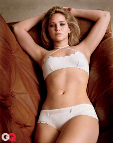 Jennifer LAwrence in white bikini