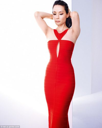 lucy-liu-in-red-long-gown