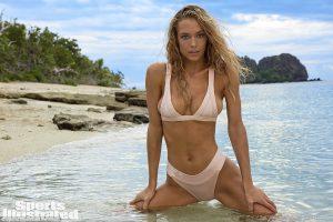 Hannah Ferguson in salmon bikini