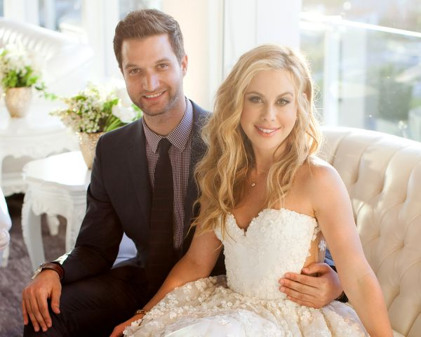 Tara Lipinski with husband todd Kapostasy