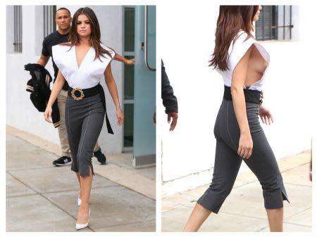 Selena Gomez' Edgy Attire Puts Her Breast On Full Display